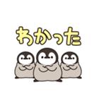うごく!ほのぼの子ペンギン でか文字編♪(個別スタンプ:01)