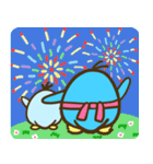 夏満喫〜なペンギン親子!(個別スタンプ:38)
