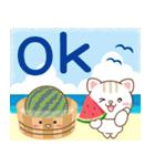 大人のための夏フォトジェニックなデカ文字(個別スタンプ:05)