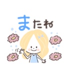 毎日使える♡おしゃかわガール(個別スタンプ:40)