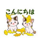 三毛猫ツインズ 秋の毎日(個別スタンプ:3)