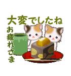 三毛猫ツインズ 秋の毎日(個別スタンプ:12)