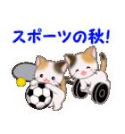 三毛猫ツインズ 秋の毎日(個別スタンプ:19)