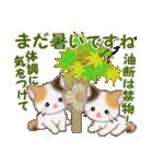 三毛猫ツインズ 秋の毎日(個別スタンプ:24)