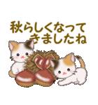 三毛猫ツインズ 秋の毎日(個別スタンプ:26)
