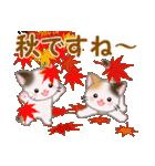 三毛猫ツインズ 秋の毎日(個別スタンプ:27)