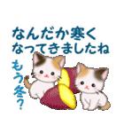 三毛猫ツインズ 秋の毎日(個別スタンプ:28)