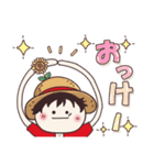 【ONE PIECE】with まるいやつら。(個別スタンプ:2)