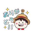 【ONE PIECE】with まるいやつら。(個別スタンプ:4)