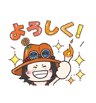 【ONE PIECE】with まるいやつら。(個別スタンプ:22)