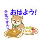 よちよち豆柴 おいしい毎日(個別スタンプ:2)