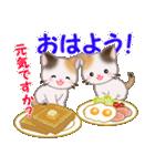 三毛猫ツインズ おいしい毎日(個別スタンプ:2)
