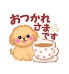 毎日使えるかわいい♥トイプードル「初秋」(個別スタンプ:09)