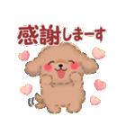 毎日使えるかわいい♥トイプードル「初秋」(個別スタンプ:15)