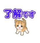 ちび猫 でか文字敬語(個別スタンプ:10)
