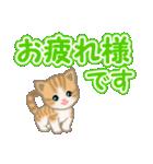 ちび猫 でか文字敬語(個別スタンプ:27)