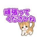 ちび猫 でか文字敬語(個別スタンプ:30)