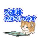 ちび猫 でか文字敬語(個別スタンプ:36)