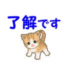 ちび猫 家族連絡(個別スタンプ:5)