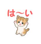 ちび猫 家族連絡2(個別スタンプ:9)