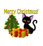金色の目の黒猫&金文字敬語(個別スタンプ:38)