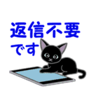 黒猫くろまる 毎日使う言葉(個別スタンプ:8)