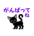 黒猫くろまる 毎日使う言葉(個別スタンプ:23)