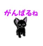 黒猫くろまる 毎日使う言葉(個別スタンプ:24)