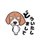 超元気なビーグル犬(個別スタンプ:11)