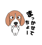 超元気なビーグル犬(個別スタンプ:17)