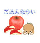 よちよち豆柴 優しい冬(個別スタンプ:16)