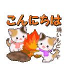 三毛猫ツインズ 優しい冬(個別スタンプ:3)
