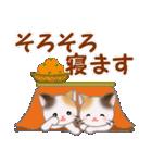 三毛猫ツインズ 優しい冬(個別スタンプ:5)