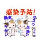 三毛猫ツインズ 優しい冬(個別スタンプ:22)