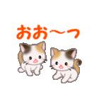 お返事かわいい 三毛猫ツインズ(個別スタンプ:11)