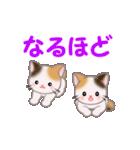お返事かわいい 三毛猫ツインズ(個別スタンプ:20)