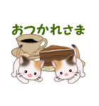 お返事かわいい 三毛猫ツインズ(個別スタンプ:26)