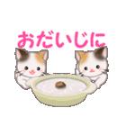 お返事かわいい 三毛猫ツインズ(個別スタンプ:27)