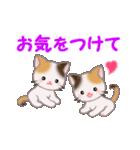 お返事かわいい 三毛猫ツインズ(個別スタンプ:28)