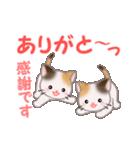 お返事かわいい 三毛猫ツインズ(個別スタンプ:29)
