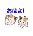 お返事かわいい 三毛猫ツインズ(個別スタンプ:37)