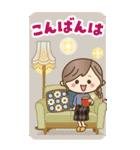 【BIG】冬~新春♡ナチュラルガール(個別スタンプ:3)