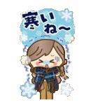 【BIG】冬~新春♡ナチュラルガール(個別スタンプ:4)