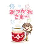 【BIG】冬~新春♡ナチュラルガール(個別スタンプ:9)