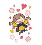 【BIG】冬~新春♡ナチュラルガール(個別スタンプ:23)