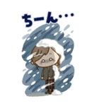【BIG】冬~新春♡ナチュラルガール(個別スタンプ:24)