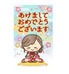 【BIG】冬~新春♡ナチュラルガール(個別スタンプ:34)