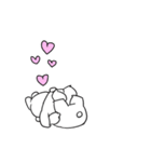 すこぶる動くちびウサギ&クマ【愛2】(個別スタンプ:4)