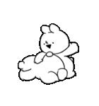 すこぶる動くちびウサギ&クマ【愛2】(個別スタンプ:6)