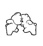 すこぶる動くちびウサギ&クマ【愛2】(個別スタンプ:12)